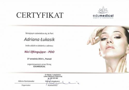 Certificat Nici liftingujace PDO 2014-1-min