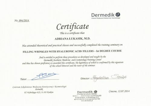 Filling wrinkles with hyaluronic acid and fillers 1st degree course 12-07-2014-1-min